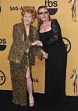 Debbie Reynolds & Carrie Fisher Stock Images