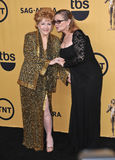 Debbie Reynolds et Carrie Fisher image stock