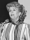 Debbie Reynolds. Is seen here narrating a fashion show at Carson Pirie Scott and Company Store in Chicago, Illinois in March of 1987. Reynolds was an Academy Stock Image