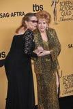 Debbie Reynolds u. Carrie Fisher lizenzfreies stockbild