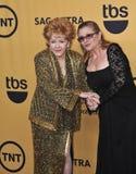 Debbie Reynolds y Carrie Fisher fotos de archivo libres de regalías