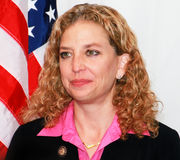 Debbie Wasserman Schultz. Is a Democratic Congresswoman representing Florida's 20th district which encompasses parts of Broward and Dade counties, including the Stock Image