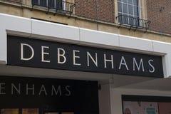 Debenhams店面在诺威治 免版税图库摄影