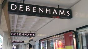 Debenhams Cardiff Fotografia de Stock