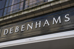Debenhams Department Store Sign Stock Image