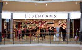 Debenhams lager på tjurcirkelköpcentret i Birmingham, Förenade kungariket Arkivbilder
