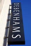 Debenhams logo sign Royalty Free Stock Photography