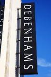 Debenhams sign Stock Photo