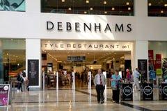Debenhams System in einem Mall Lizenzfreie Stockbilder