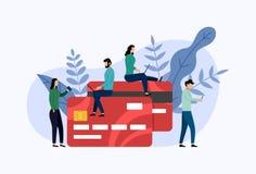 Debet lub karty kredytowej zap?ata royalty ilustracja