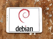 Debian computer operating system logo Stock Photos