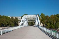 Debilly footbridge, Paris. Royalty Free Stock Image