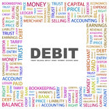 DEBIT. Royalty Free Stock Photo