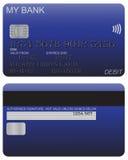 Debit Card Detail Blue Royalty Free Stock Image
