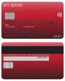 Debit Card Detail Red Royalty Free Stock Image
