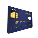 Debit card isolated over white background Royalty Free Stock Photos