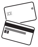 Debit Card Silhouettes Royalty Free Stock Photography