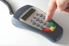 Debit Card Terminal Pinpad Stock Photos