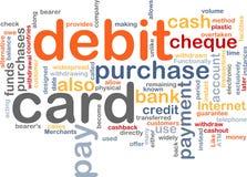 Debit card word cloud. Word cloud concept illustration of debit card Stock Photo