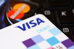 Debit cards business concept Royalty Free Stock Image