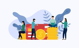 Debit or credit card payment royalty free illustration