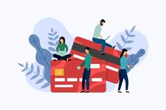 Debit or credit card payment stock illustration