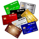 Debit and Credit Cards Stock Image