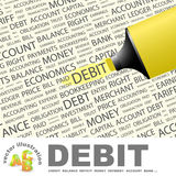 Debit. Royalty Free Stock Photos