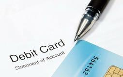Debitcard Royalty-vrije Stock Fotografie