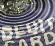 Debitkartekräuselungen Lizenzfreies Stockbild