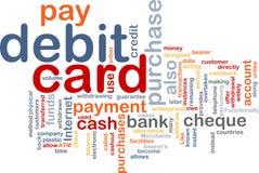 Debitkartewortwolke Stockbild