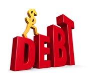 Debito aumentante Illustrazione Vettoriale