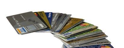 Debito in aumento della carta di credito fotografia stock