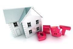Debito dell'alloggio Immagine Stock