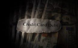 Debito della carta di credito Fotografia Stock