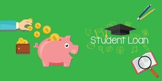 Debito di prestiti dello studente per istruzione Immagini Stock