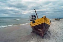 Debki,海滩在波兰。 免版税图库摄影