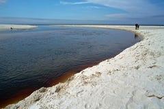 Debki,海滩在波兰 库存照片