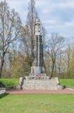 Deblin,波兰- 2017年4月20日:为波兰的独立下落的战士的纪念碑从第15狼步兵团的 免版税图库摄影