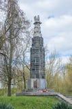 Deblin Polen - April 20, 2017: Monument för soldater som som är stupade för självständighet av Polen från det 15th varginfanterir Arkivbild
