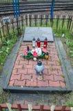 Deblin Polen - April 20, 2017: Monument till minnet av okända soldater som som är stupade för hemland i 1920-1945 Royaltyfri Bild