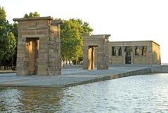 Debod寺庙在马德里,西班牙 免版税库存照片