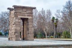 Debod寺庙在马德里,西班牙 库存图片
