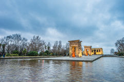 Debod寺庙在马德里,西班牙 免版税图库摄影