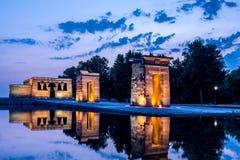 Debod寺庙, Parque del Oeste,马德里,西班牙 图库摄影
