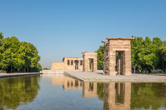 Debod寺庙, Parque del Oeste,马德里,西班牙 免版税图库摄影