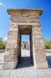 debod马德里寺庙 古老埃及寺庙在马德里 免版税图库摄影