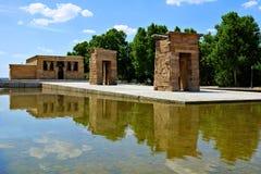 Debod,马德里,西班牙埃及寺庙  免版税库存照片