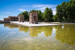 Debod,马德里,西班牙-联合国科教文组织寺庙  免版税库存照片