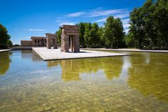 Debod,马德里,西班牙-联合国科教文组织寺庙  库存照片